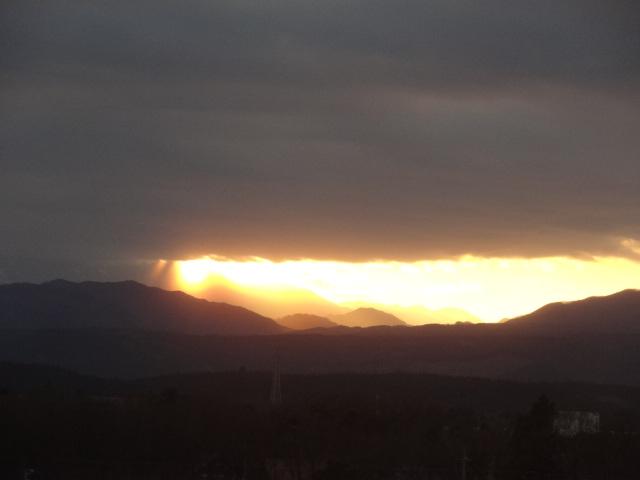 sunset Fukushima